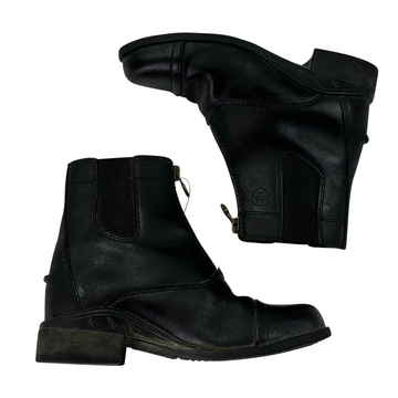 Ariat Scout Paddock Boots in Black - Children's US 12