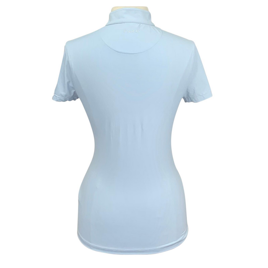 Back of Pikeur Premium Shirt in Light Blue