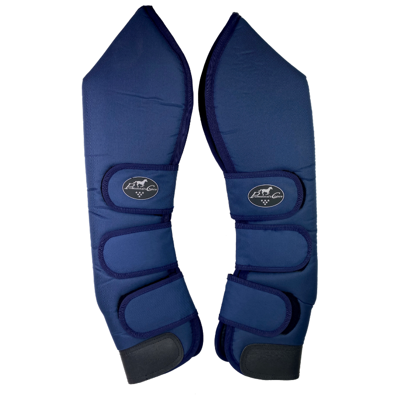 Hind set of Professional's Choice Shipping Boots in Blue - Horse Size