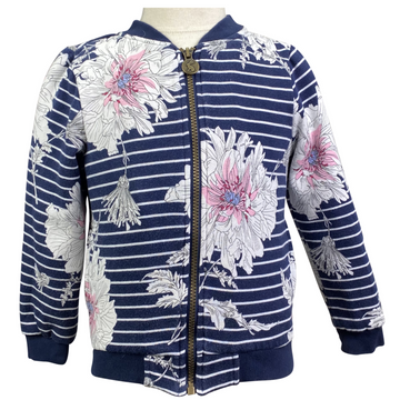Joules Bomber Jacket in Navy Floral