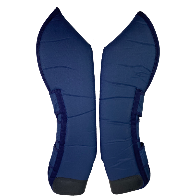 Other side of hind set Professional's Choice Shipping Boots in Blue - Horse Size