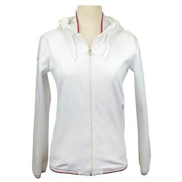 Cavalleria Toscana Piquet Stretch Hoodie in White