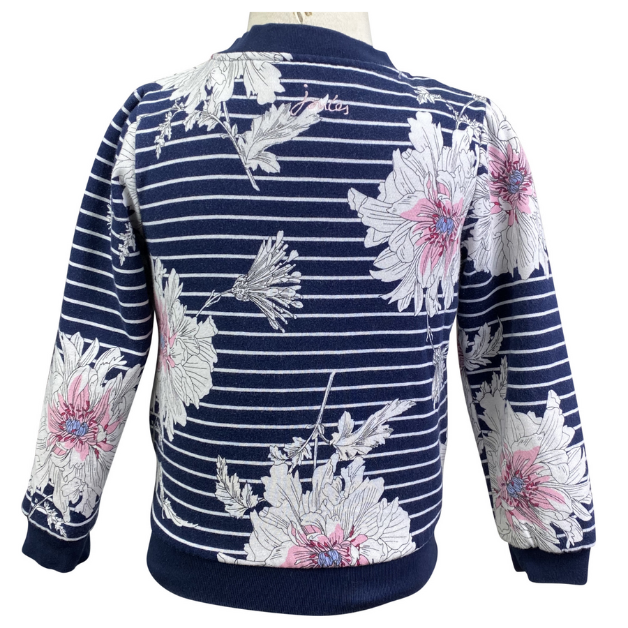 Back of Joules Bomber Jacket in Navy Floral