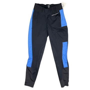 Noble Outfitters 'The Original' Balace Riding Tight in Black/Blue Accents - Women's XS
