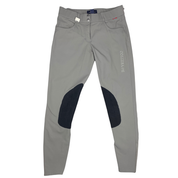 B Vertigo Kimberly Breeches in Grey/Black Knee Patches - Women's 26