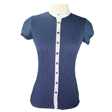 Equiline New Alissa Show Shirt in Navy/White