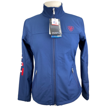 Ariat New Team Softshell Jacket in Navy USA - Women's Small