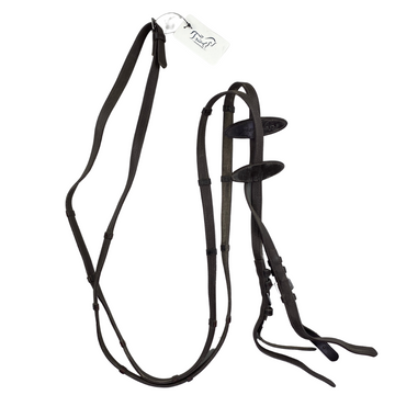 PS of Sweden Softy/Super Grip Reins in Brown