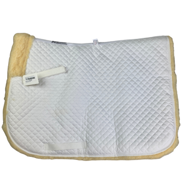 Roma High Pile Fleece Dressage Pad in White - Full Size
