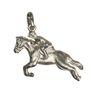 Rearing Horse Pendant in Sterling Silver - One Size