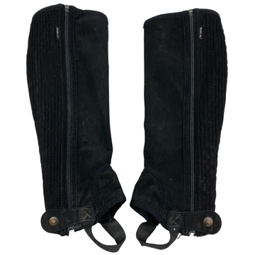 Dublin Easy Care Half Chaps in Black - XS