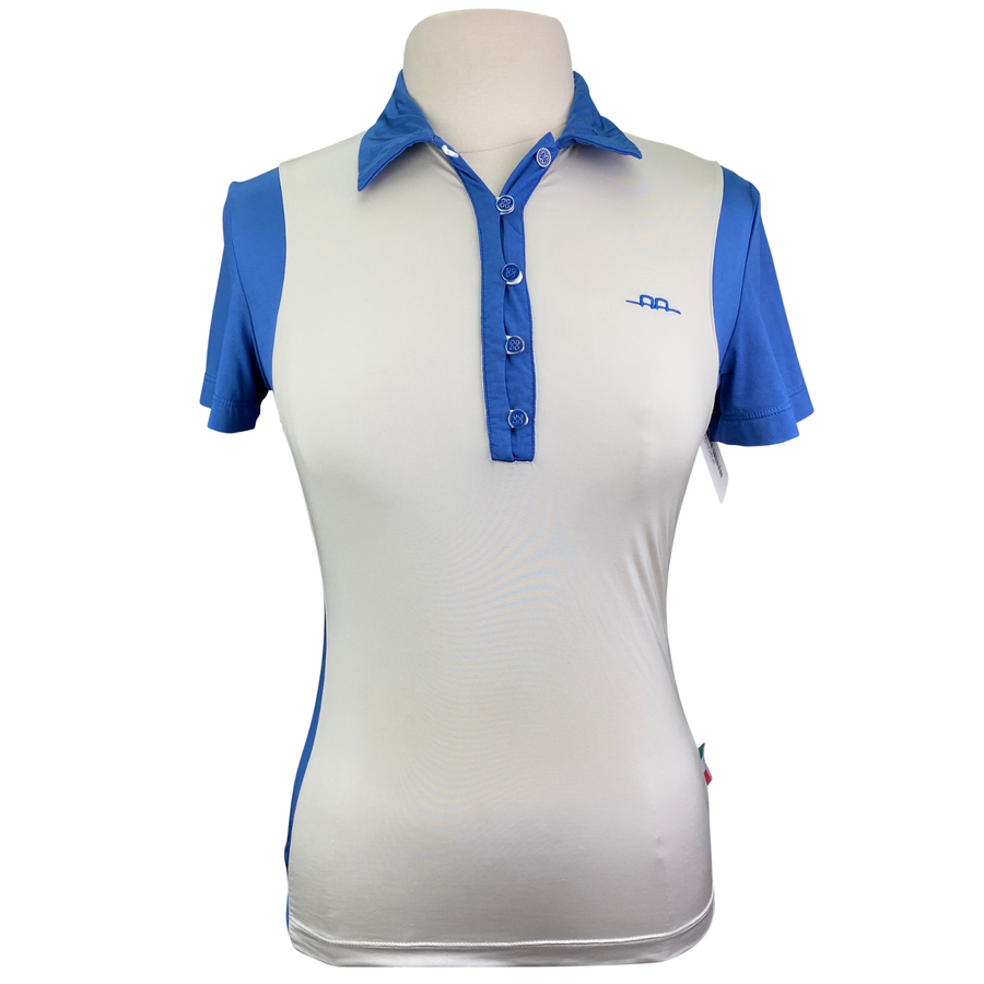 Alessandro Albanese Limited Edition Polo in Cream/Blue - Women's Small