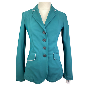 Iago Lisa Show Jacket in Hunter Green/Silver Piping - Womens IT 38 (US 2)
