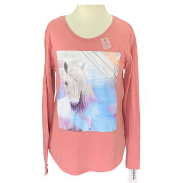 Old Navy Long Sleeve Horse Shirt in Pink
