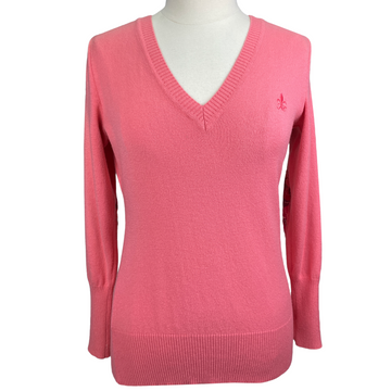 Fior Da Liso V-Neck Sweater in Coral - Women's US 6