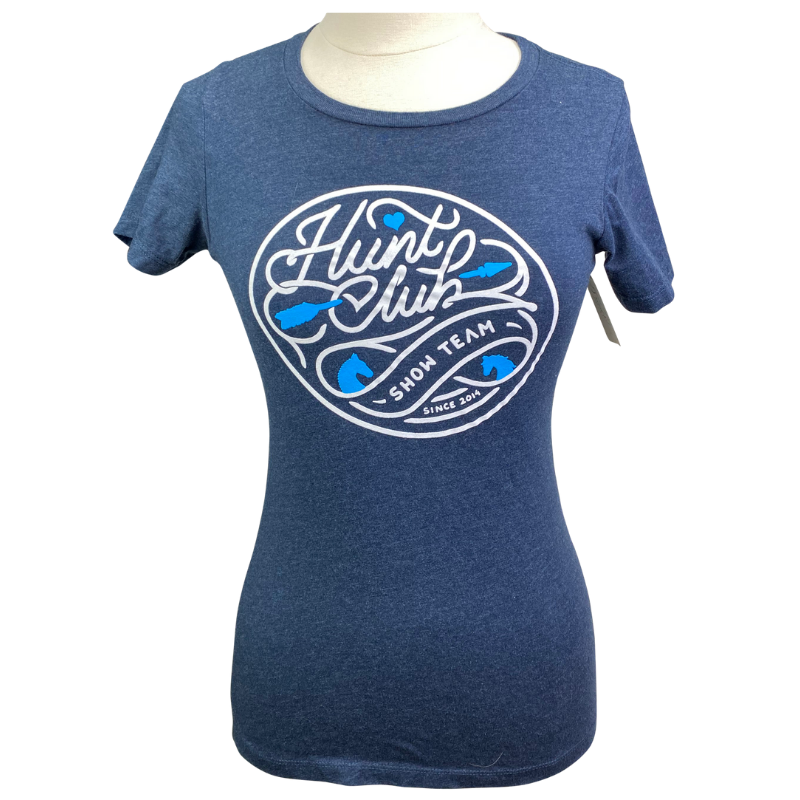 Hunt Club Show Team Tee in Navy - Women's Medium