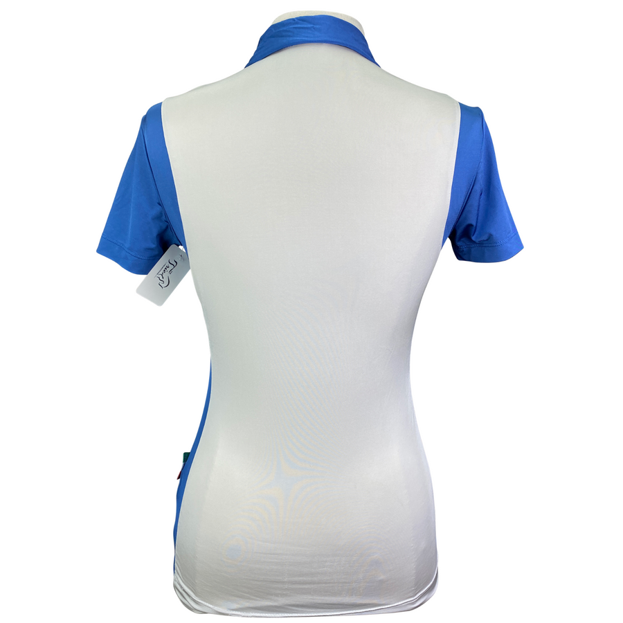 Back of Alessandro Albanese Limited Edition Polo in Cream/Blue - Women's Small