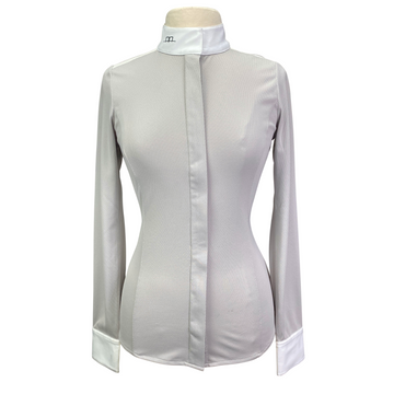 AA Platinum Clean Cool Fresh Show Shirt in Grey/White - Women's Small