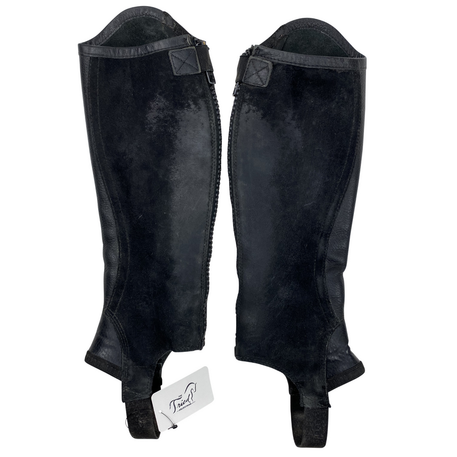 Inside of Ariat Concord Half Chaps in Black