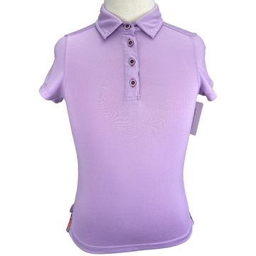 Dover Saddley Coolblast Polo in Lilac - Children's Small