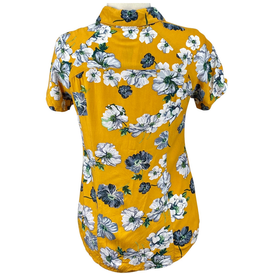 Back of Street & Saddle Floral Horse Camp T-Shirt in Gold/Floral