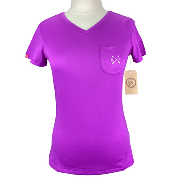 Hunt Club Pocket Short Sleeve Tee in Ultra Violet  - Women's XL