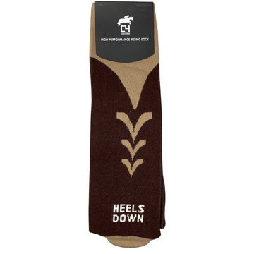C4 'Heels Down' Socks in Brown