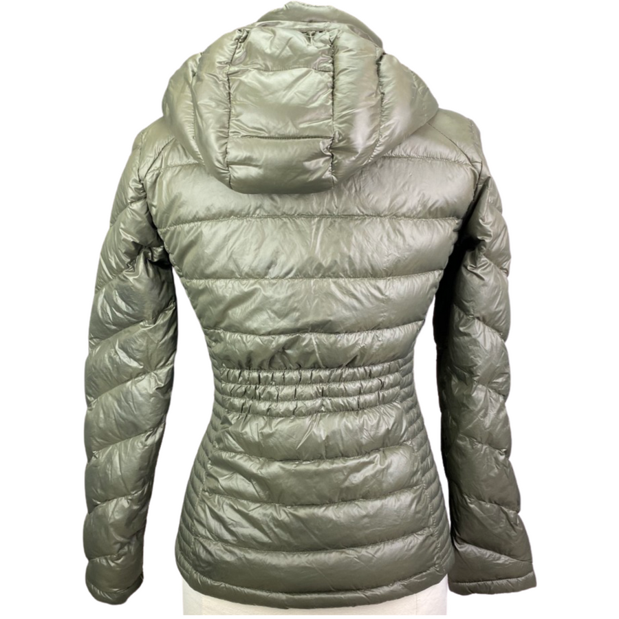 Back of Clavin Klein Down Jacket in Army Green - Women's Small