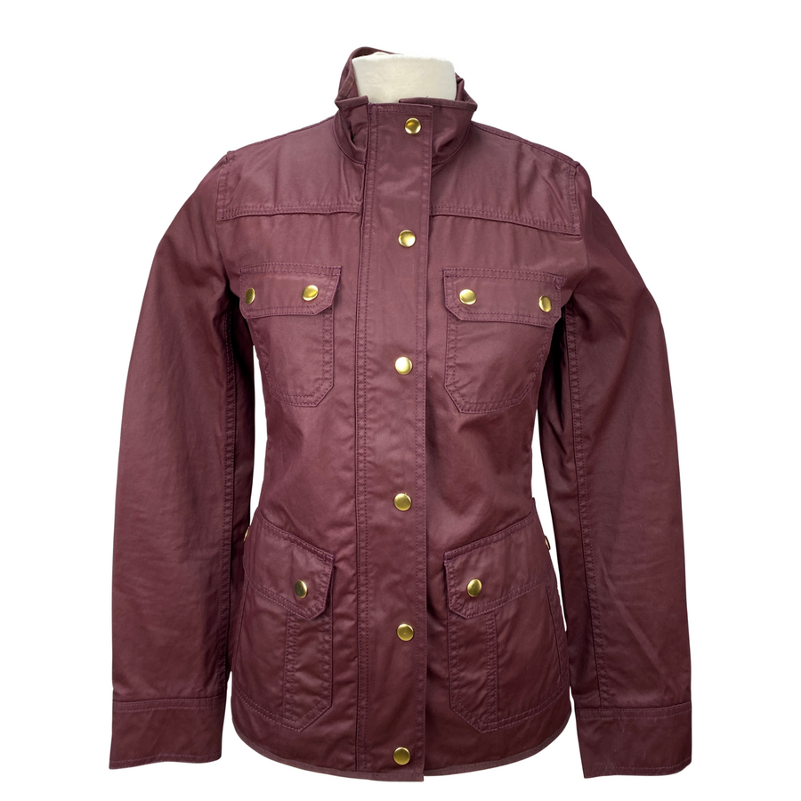 J Crew Downtown Field Jacket in Maroon