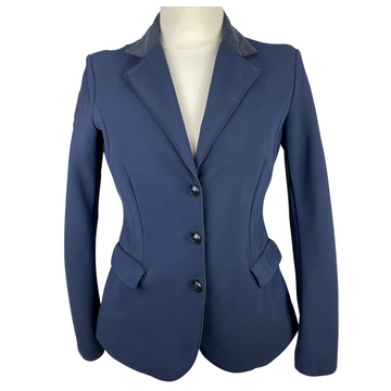 Front of Cavalleria Toscana GP Competition Jacket in Navy