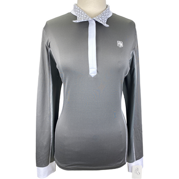Romfh Signature Magnetic Competition Shirt in Grey/White - Women's Large