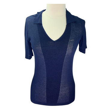 Animo Solo Short Sleeve Sweater Shirt in Navy
