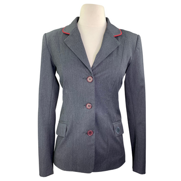 Renard et Cheval Hunt Coat in Charcoal/Red Piping