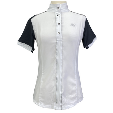 Kingsland Laurel Show Shirt in White/Navy