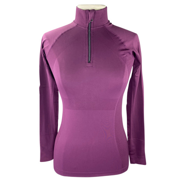 Anique Signature Sun Shirt in Merlot - Women's Small