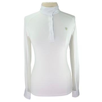 Ariat Pro Series Show Shirt in White/Blue & Green Pattern