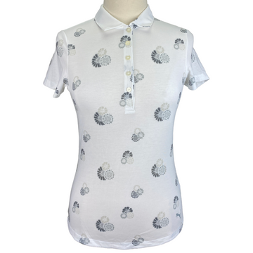 Puma Golf Polo in White Floral Pop - Women's Small