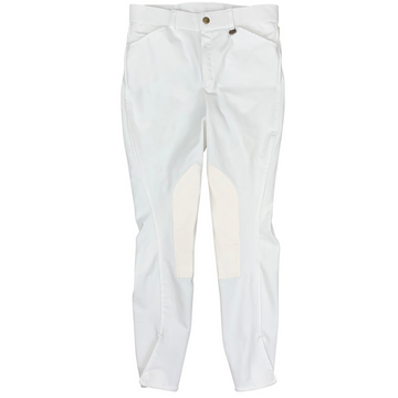 Ovation Knee Patch Breeches in White
