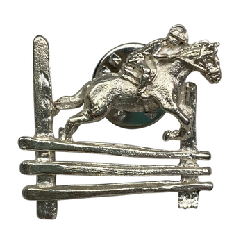 Jumping Horse Pin in Sterling Silver - One Size