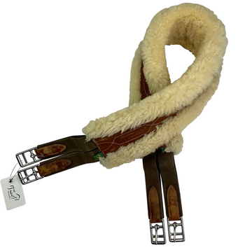 Devoucoux Sheepskin Lined Girth in Brown