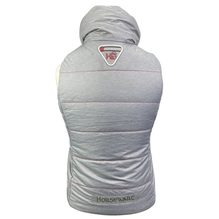 Back of Horseware Reversible Vest in Grey/Blue