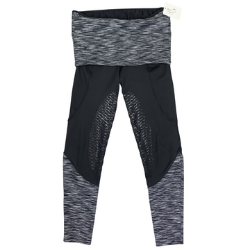 Equo Schooling Pant in Black/Stripe Waistband