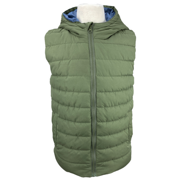 Front of Peyton & Parker Puffer Vest in Army Green
