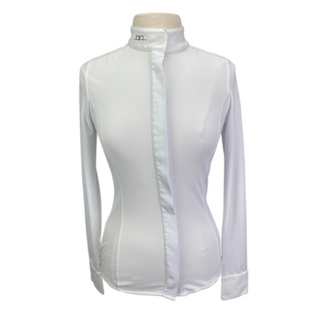 AA Platinum Clean Cool Fresh Show Shirt in White - Women's XS