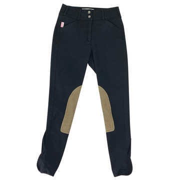 Tailored Sportsman Trophy Hunter Breeches in Black/Tan Knee Patch