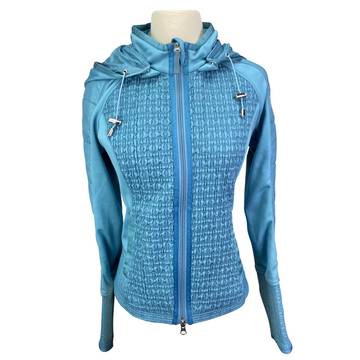 Goode Rider Ruched Athletic Jacket in Baby Blue - Women's Small