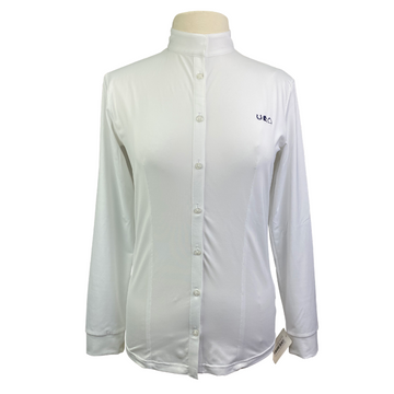Sport Horse Lifestyle Hudson Show Shirt in White - Women's XL