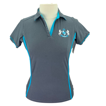 Irideon Polo in Grey/Turquoise