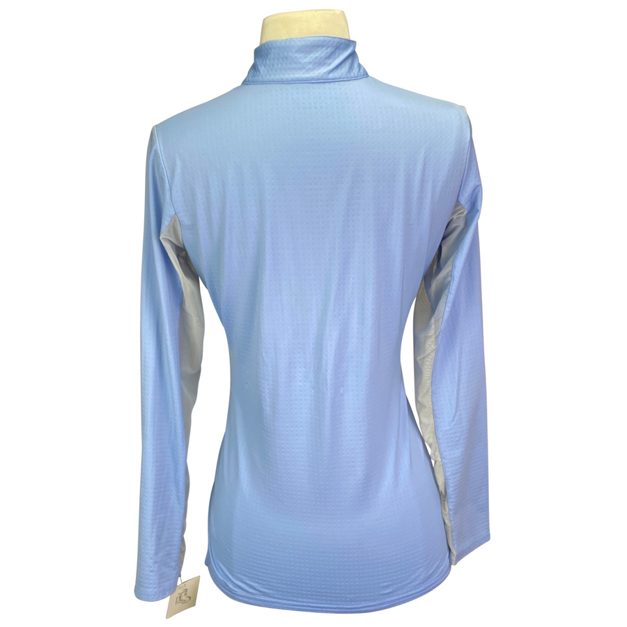 Back of Bette and Court Swing Sunshirt in Light Blue - Women's Small