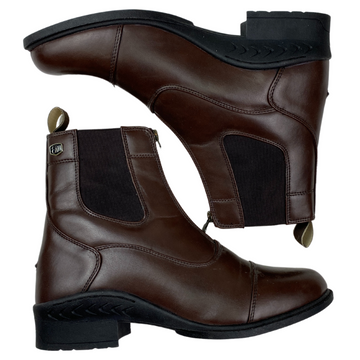 Ovation Quantum Zip Paddock Boots in Brown - Women's 10